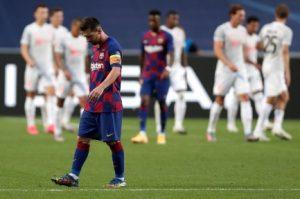 Barca bị Bayern loại với tỷ số 8-2 ở Cúp C1 2019/20.