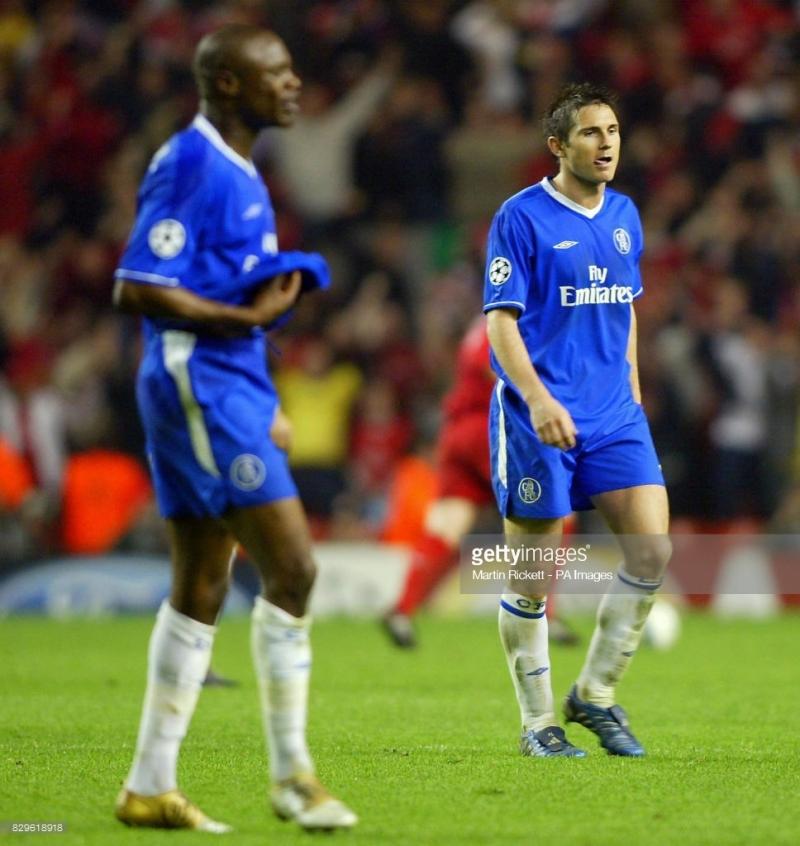 Claude Makelele và Frank Lampard