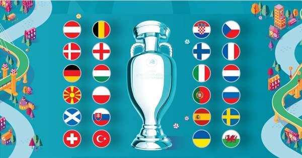 24 đội bóng tham dự euro 2020